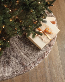 Faux-Fur Christmas Tree Skirt