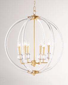Lucite Six-Light Pendant