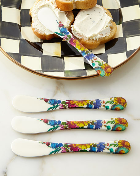 Mackenzie childs flower market canape knives set of 4 for Canape knife set