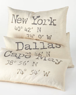 Customized Coordinates Pillow