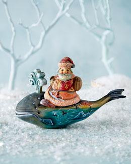 Santa on Whale Surprise Box