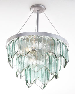 Cut-Glass 3-Light Pendant