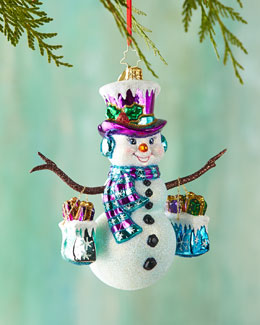 Frosty Shopper Christmas Ornament