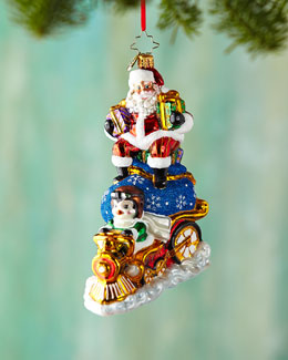 Riding High Nick Christmas Ornament