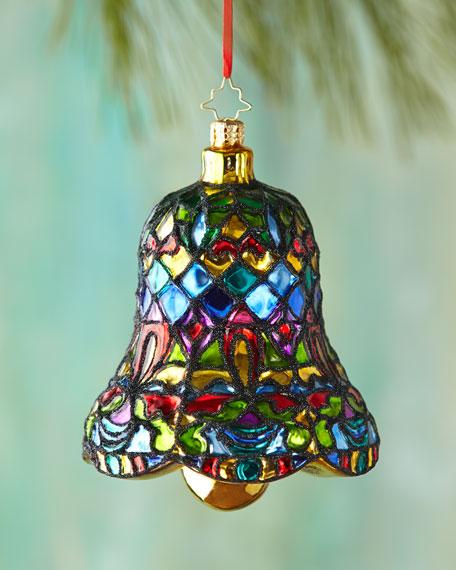 Christopher Radko Tiffany Clapper Christmas Ornament