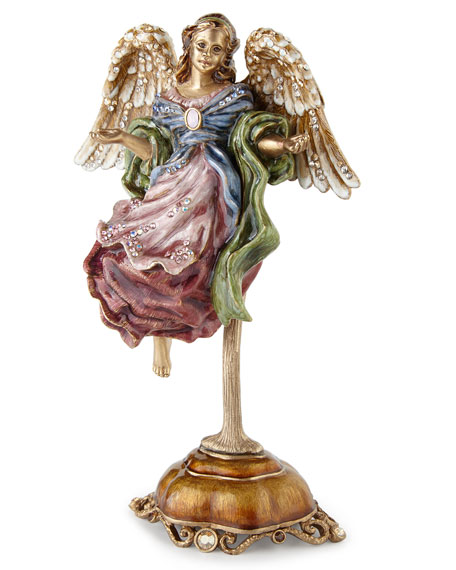 Flying Angel Figurine with Stand