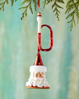 Bugle Nick Santa Christmas Ornament