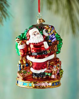 Straight to Work Santa Christmas Ornament
