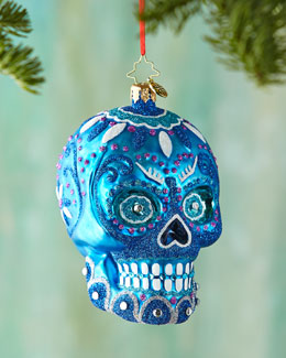 Blue La Calavera Ornament