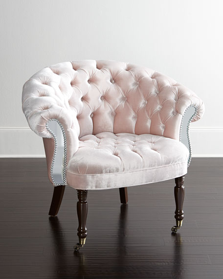 Blush Sausalito Mirrored Chair