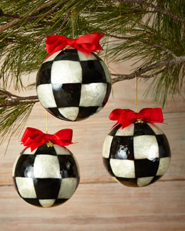 Three Jester Fancies Large Ball Christmas Ornaments