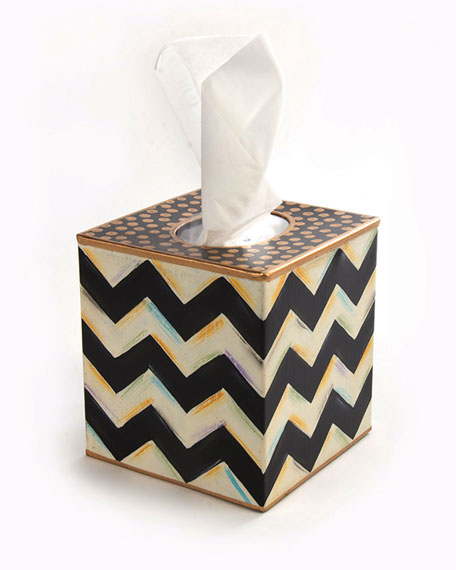 Zig Zag Tissue Box Cover