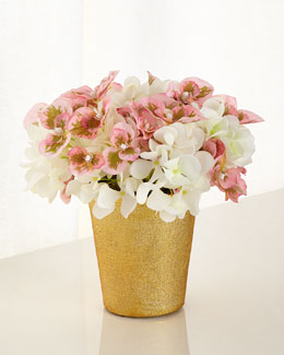 Blushing Beauty Hydrangea Faux-Floral Arrangement
