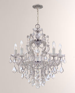 Crystal Drop Six-Light Chandelier