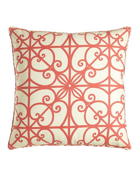 "Puerta Scrollwork Pillow, 22""Sq."