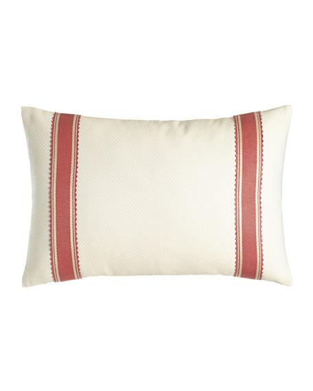 "Dakota Pillow with Band Detail, 14"" x 20"""