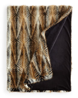 Faux-Lemur Throw
