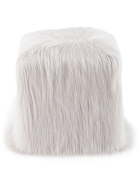 Faux-Tibetan-Lamb Pouf