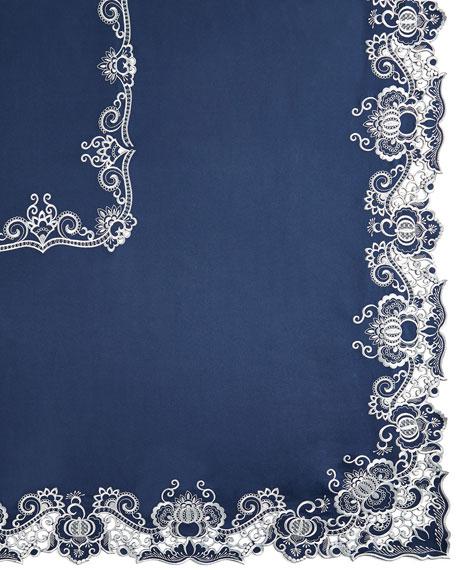 "Gabriella 90"" Round Tablecloth & 12 Napkins"