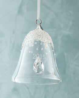 2015 Annual Crystal Bell Christmas Ornament