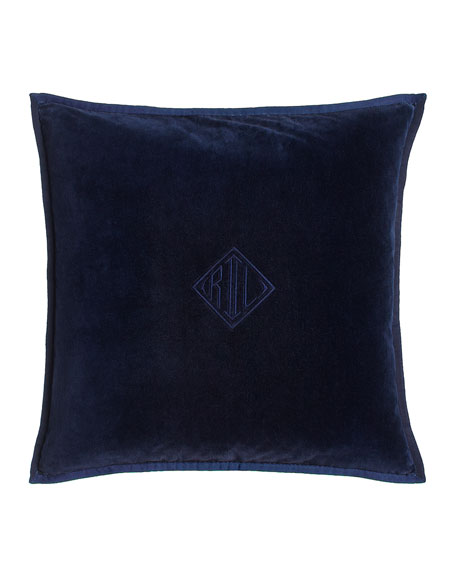 "Colton Navy Pillow, 18""Sq."