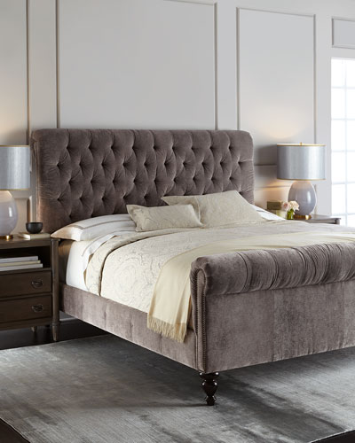 Lourdes Tufted King Bed