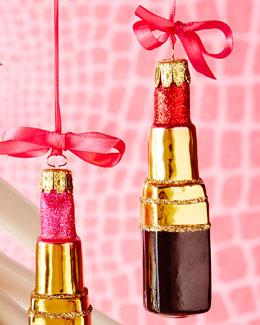 Red Lipstick Christmas Ornament