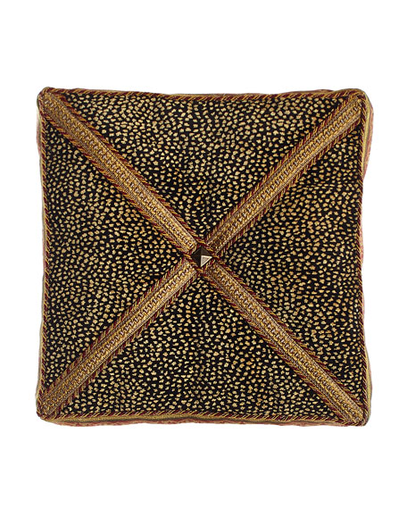 "Exotica Animal-Patterned Velvet Box Pillow, 14""Sq."