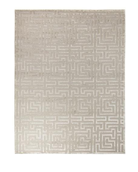 Silver Trellis Rug, 12' x 15'