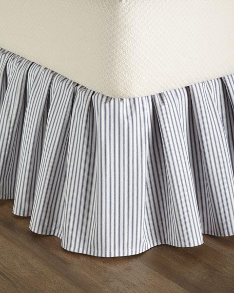 King Ticking-Stripe Dust Skirt