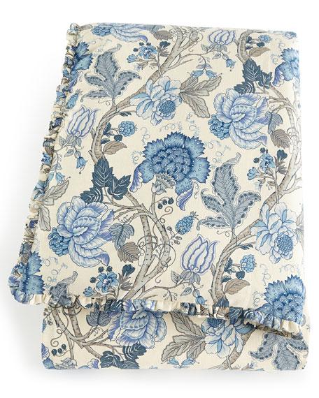 Queen Iris Floral Duvet Cover