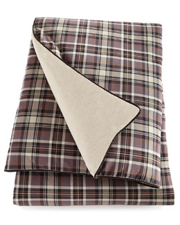 Queen Plaid Duvet Cover, 96