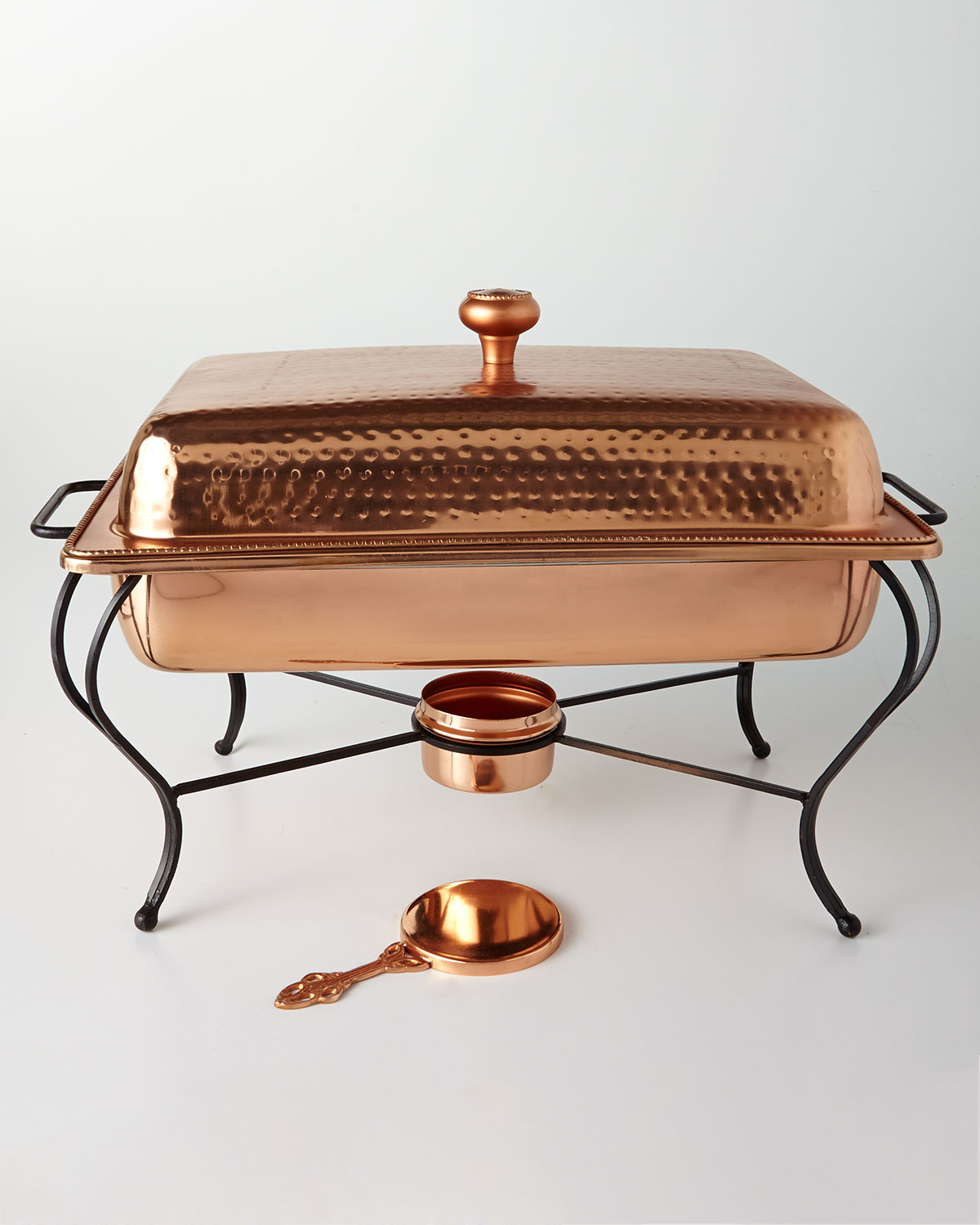 Star Home Designs6 Quart Rectangular Copper Plated Chafing Dish