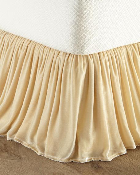 Queen Velvet Dust Skirt