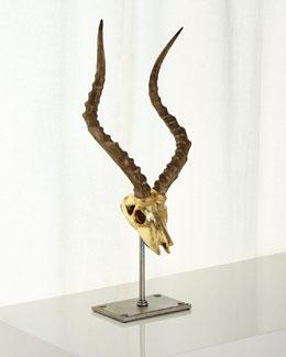 Faux Impala Skull