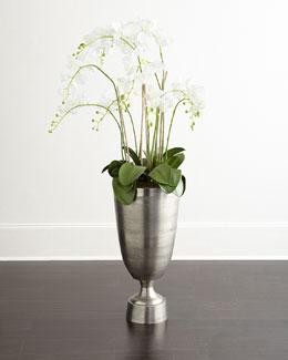 White Phalaenopsis Orchid Faux-Floral Arrangement