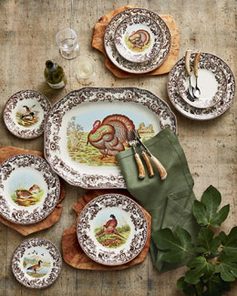 Assorted Woodland Bird Dinner Plates, 4-Piece Set