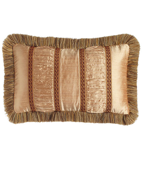 Mediterrane Pillow with Ruched Silk Insets, 13