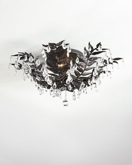 Cascading Leaves Antiqued-Bronze Flush Mount Light