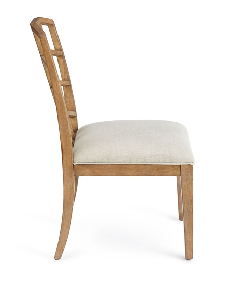 Maisy Wood-Back Side Chair, Pair