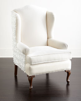 Priscilla Floral Wing Chair