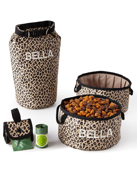 Leopard Bark-N-Go Large Accessories Set