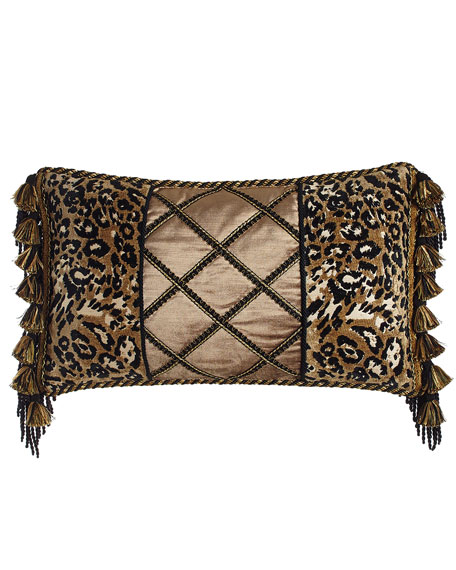 "Madagascar Pieced Pillow, 13"" x 23"""