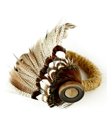 Juliska Feather Napkin Ring