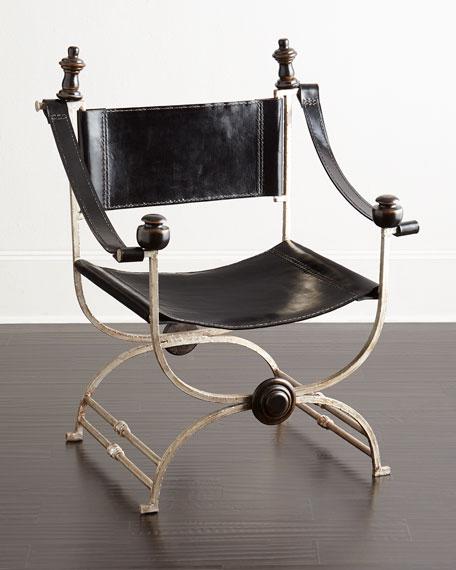 Martina Ebony Leather Chair