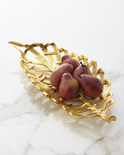Gold Orchid Footed Centerpiece Bowl : Michael aram collection at neiman marcus horchow