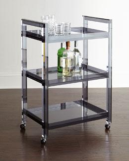 Cleo Noire Acrylic Bar Cart