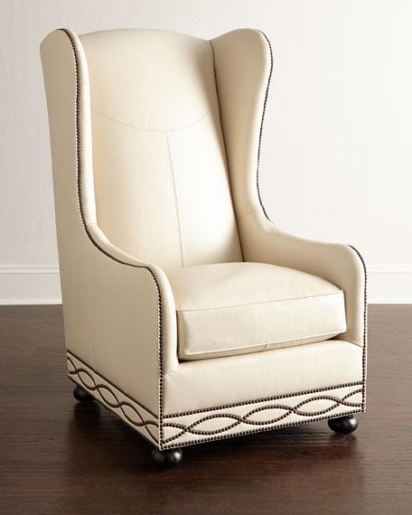 Bernhardt Fenneck Leather Chair
