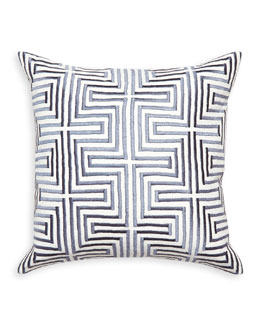 Lisbon Satin-Stitch Pillow