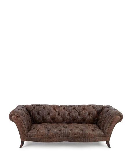 Fritz Tufted-Leather Sofa